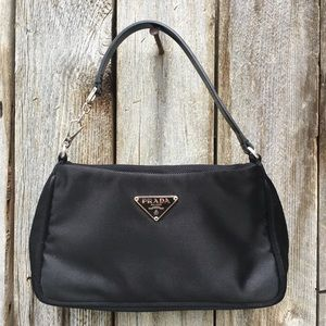 Prada Bags - Prada Vintage Satin Mini Hobo Evening Bag